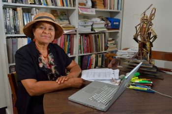 photo of Betty Crouther in her office.